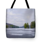 Frozen Bear Creek Lake Tote Bag