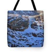 Frozen Black Lake Tote Bag