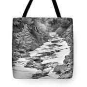 Frozen Boulder Creek Boulder Canyon Colorado Bw Tote Bag