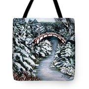 Frozen Brook - Winter - Bridge Tote Bag