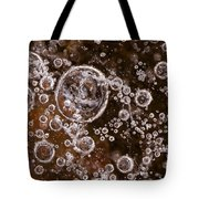 Frozen Bubbles Tote Bag by Anne Gilbert
