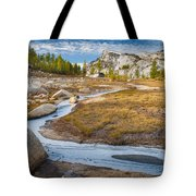 Frozen Enchantments Creek Tote Bag