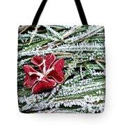 Frozen Flower Tote Bag