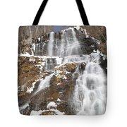 Frozen Falls From The Bridge Tote Bag