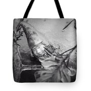 Frozen Gnome Black And White Tote Bag