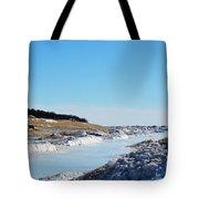 Frozen Lake Michigan Tote Bag