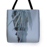 Frozen Lantern At The Falls Tote Bag