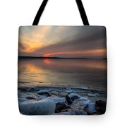 Frozen Lewis And Clark Lake Tote Bag