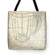 Frozen Margarita Recipe Patent Tote Bag by Edward Fielding