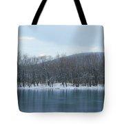 Frozen Mountain Lake Tote Bag