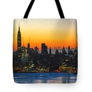 Frozen-new York At Dawn  Tote Bag