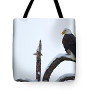 Frozen Perch Tote Bag