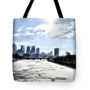 Frozen Philadelphia Cityscape Tote Bag