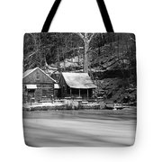 Frozen Pond In Black And White Tote Bag