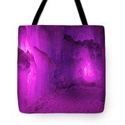 Frozen Purple Rain Tote Bag