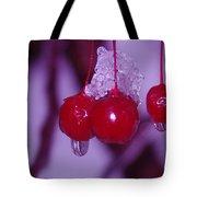 Frozen Red Berries Tote Bag