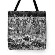 Frozen Reeds Tote Bag
