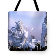 Frozen Samurai Warriors Tote Bag