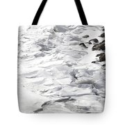 Frozen Shoreline Tote Bag