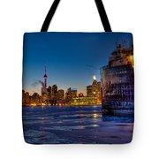 Frozen Skyline Tote Bag
