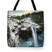 Frozen Snoqualmie Falls Tote Bag