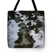 Frozen Stream Tote Bag