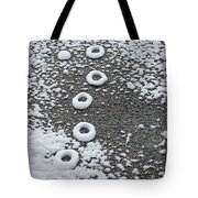 Frozen Tracks Tote Bag