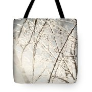 Frozen Tree Branches In Winter Tote Bag