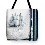 Frozen Windowpane Tote Bag
