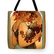 Fruit Tote Bag by Alphonse Maria Mucha