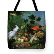Fruit And Birds Tote Bag