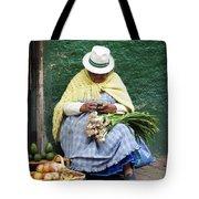 Fruit And Vegetable Vendor Cuenca Ecuador Tote Bag