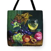 Fruit And Wine Tote Bag by Karon Melillo DeVega