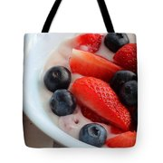 Fruit And Yogurt Snack 2 Tote Bag by Barbara Griffin