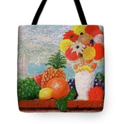 Fruit Flowers And Castle Tote Bag