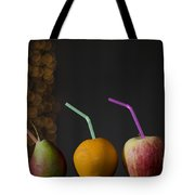 Fruit With Straws Tote Bag