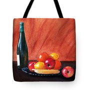 Fruits And Wine Tote Bag