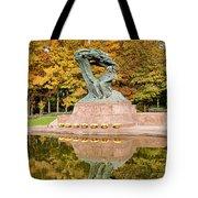 Fryderyk Chopin Statue In Warsaw Tote Bag