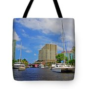 Ft. Lauderdale Canal Tote Bag