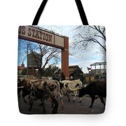 Ft Worth Trail Ride At Ft Worth Stockyard Tote Bag