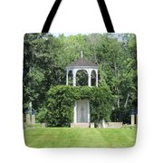fu dog garden and Buddha Pavillion Tote Bag
