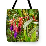 Fuchsia Along The Trail To Huayna Picchu-peru Tote Bag