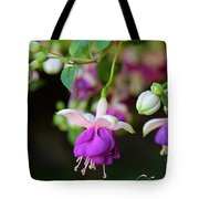 Fuchsia Birthday Card Tote Bag