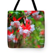 Fuchsia Blooms With Scripture Tote Bag