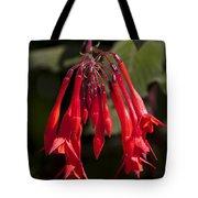 Fucshia Red Flower Tote Bag