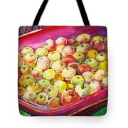Fuji Apples In The Water Tote Bag