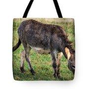 Full Grown Donkey Grazing Tote Bag