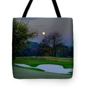 Full Moon At The Philadelphia Cricket Club Tote Bag by Bill Cannon