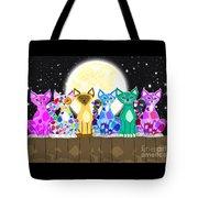 Full Moon Felines Tote Bag