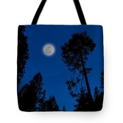 Full Moon In Yosemite Tote Bag